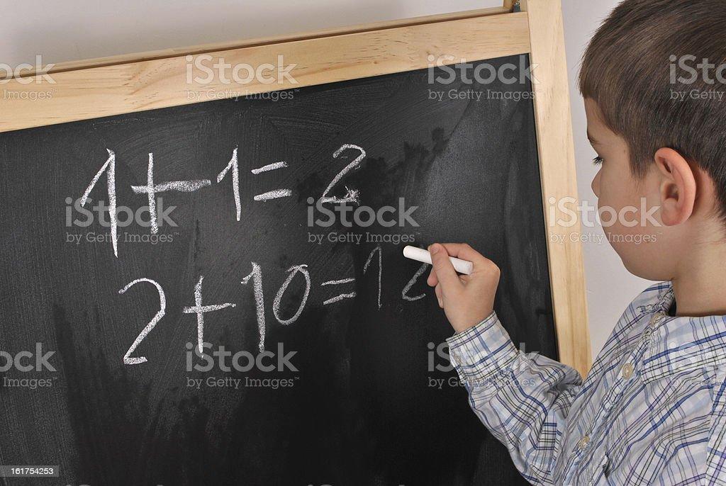 Mathematics at the primary school stock photo