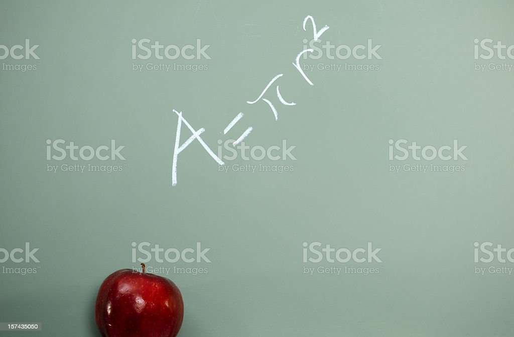 Mathematics Equation on Chalkboard, Education Concept royalty-free stock photo