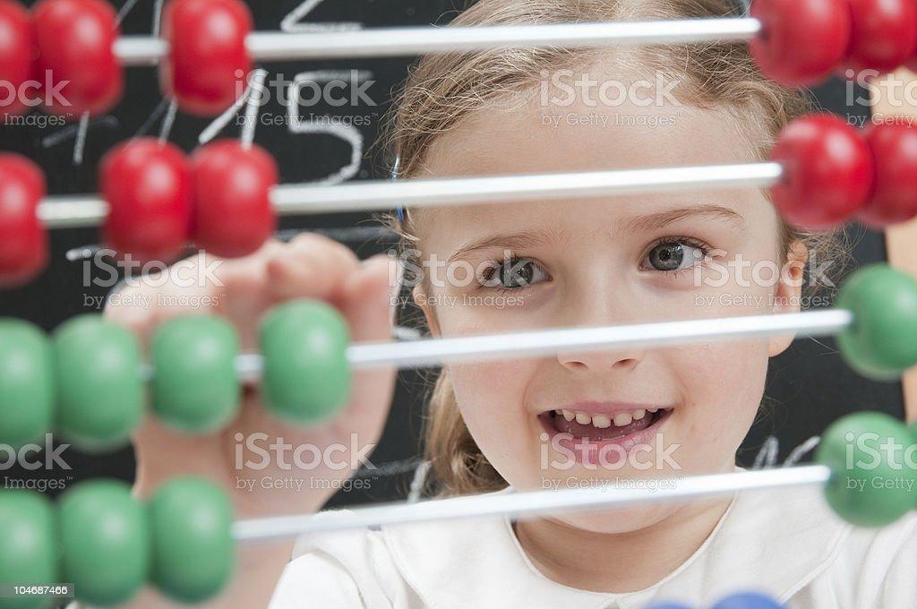 Mathematics lesson royalty-free stock photo