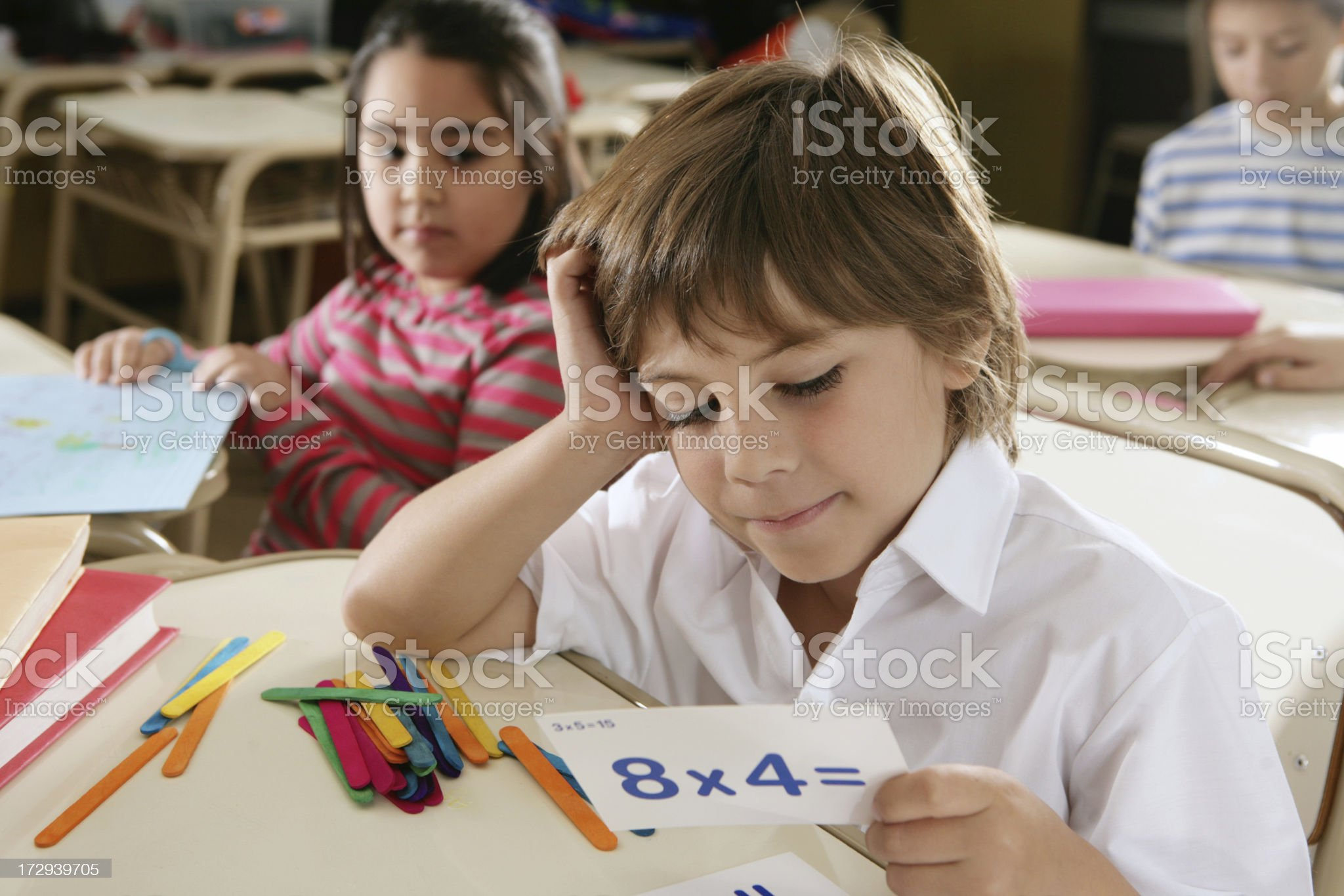 mathematic's lesson royalty-free stock photo