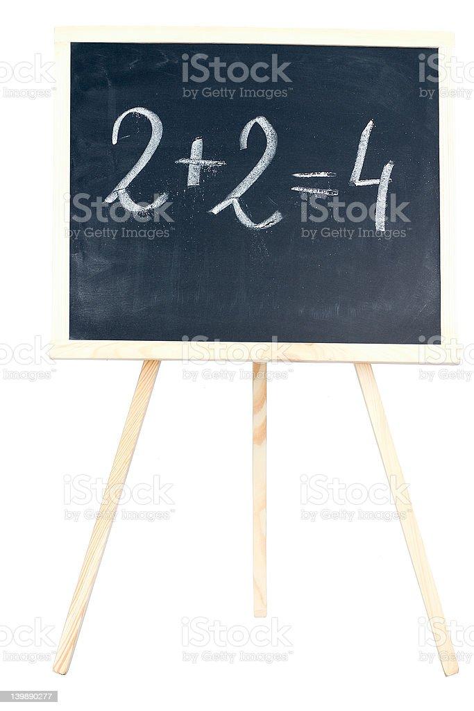 Mathematics on a chalkboard royalty-free stock photo