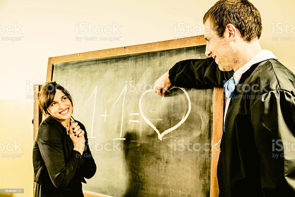 Mathematics Oral Test at Blackboard. Love Concept stock photo