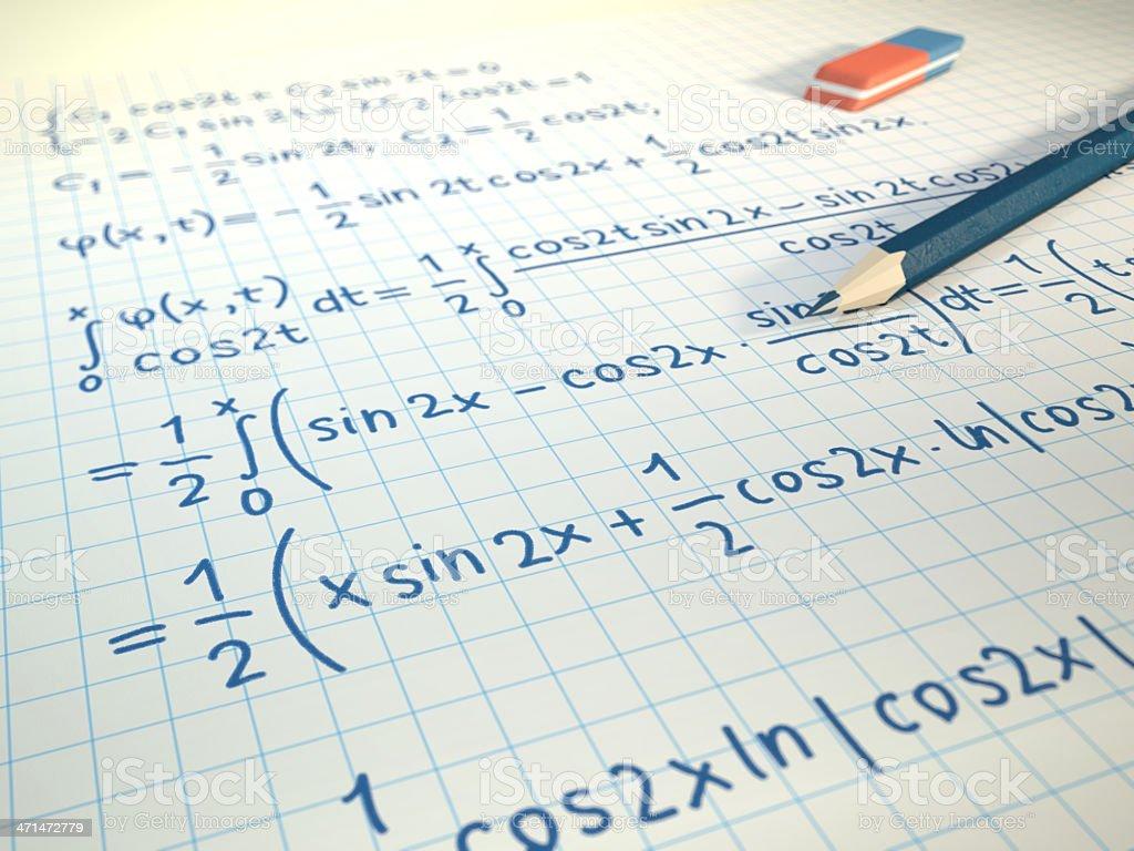 Mathematics royalty-free stock photo