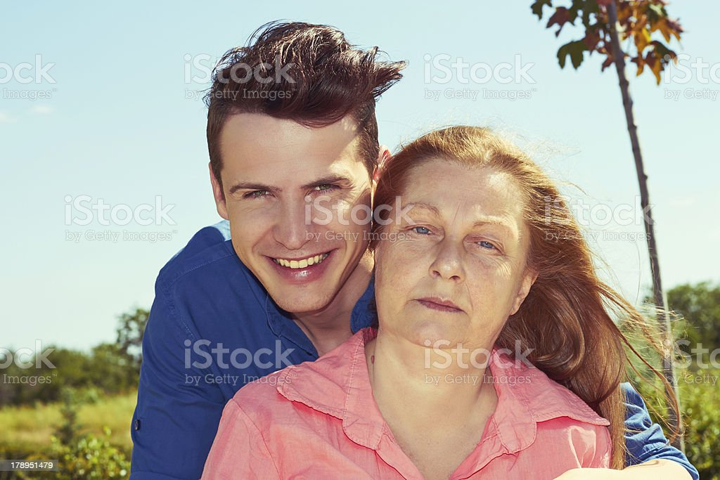 Mather and son royalty-free stock photo