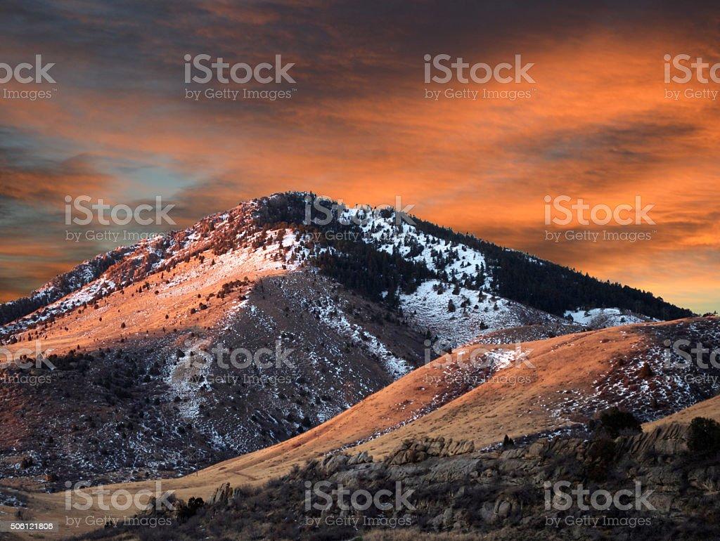 Mathew Winters Sunset stock photo