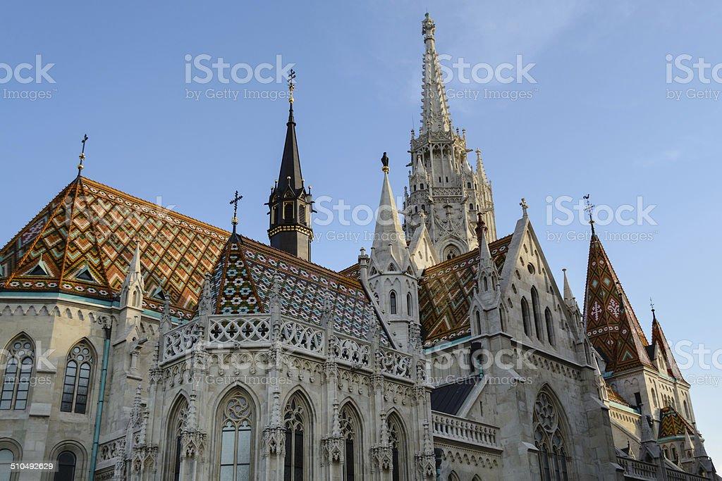 Mathias church Budapest stock photo