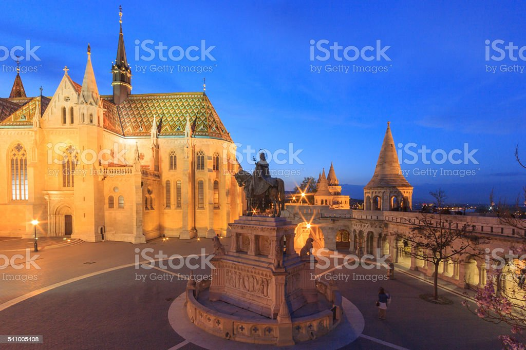 Mathias Church, Fisherman's Bastion, Budapest stock photo