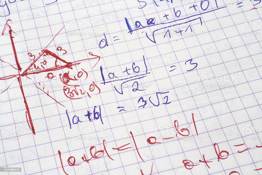 maths royalty-free stock photo