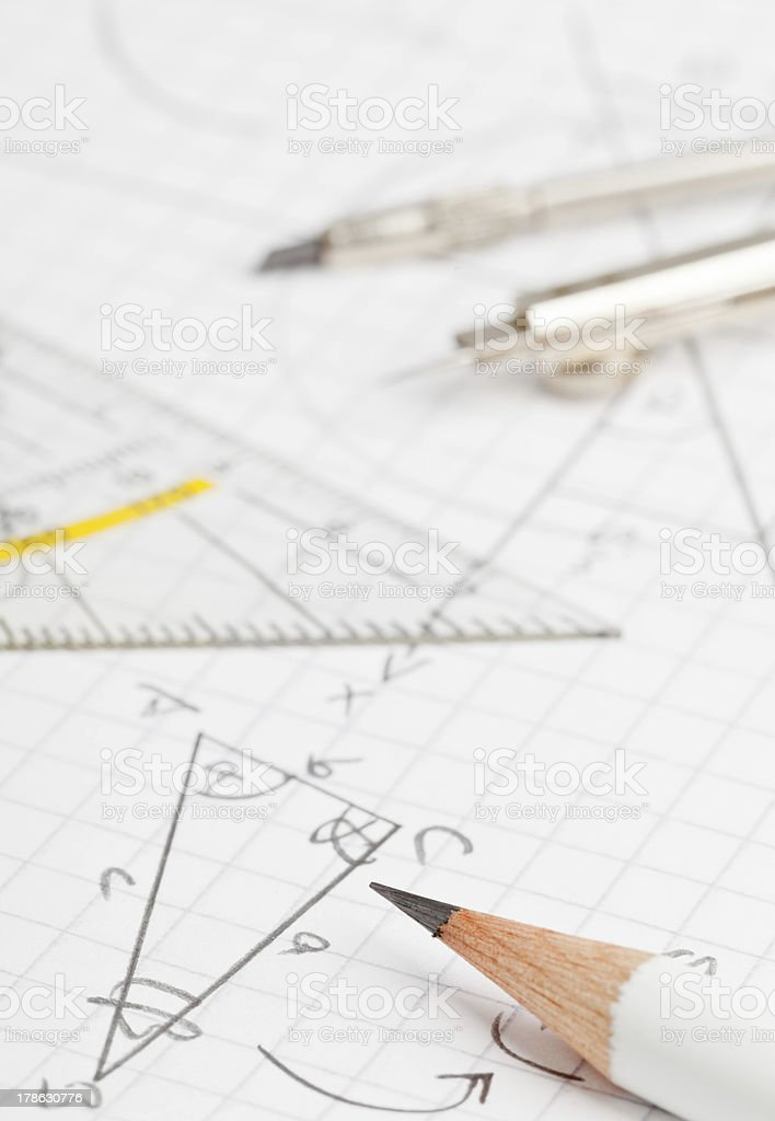 Maths royalty-free stock photo