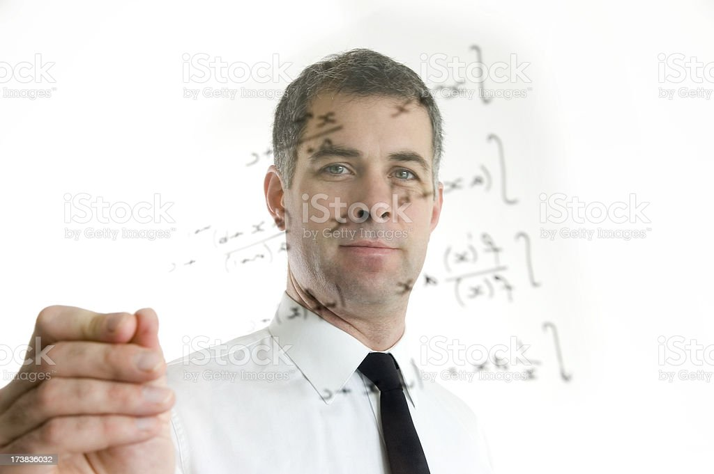 math/science teacher royalty-free stock photo