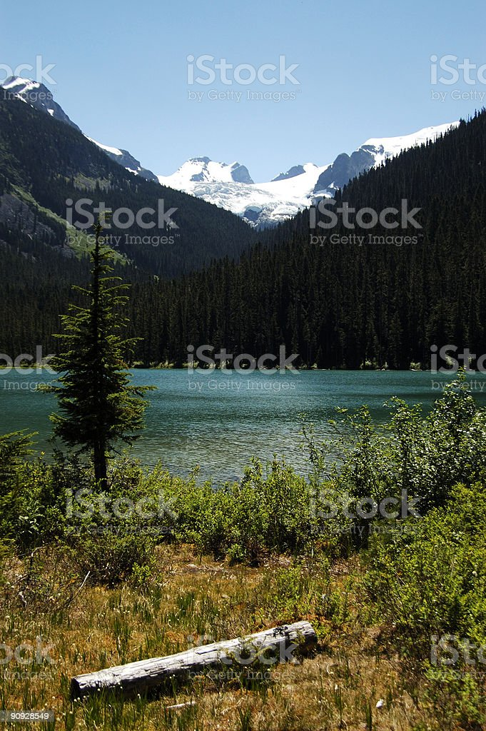 matier viewed from the base of a lake stock photo