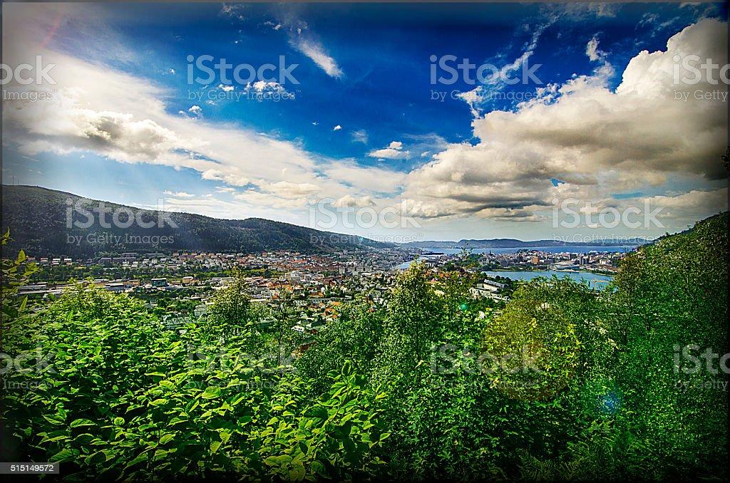 Matin à Bergen stock photo