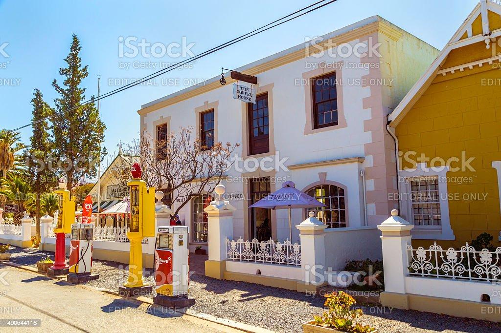 Matjiesfontein Coffee House in the Karoo stock photo