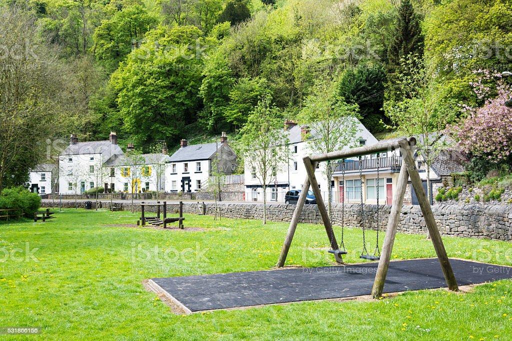 Matlock Play Park stock photo