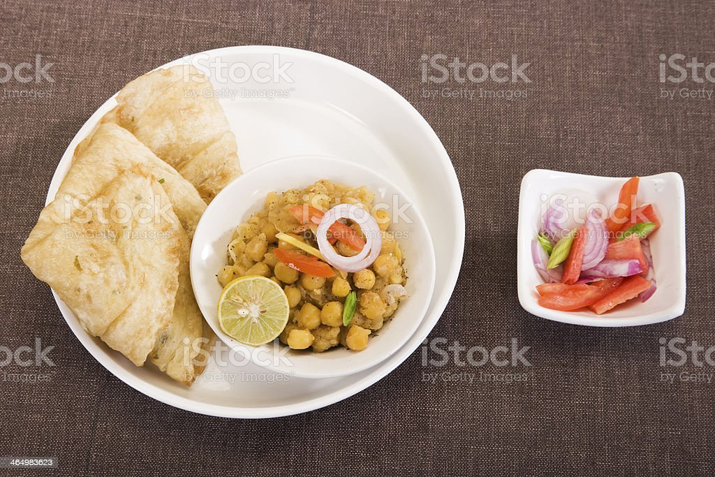 Matra Chaat with Aloo Kulcha stock photo