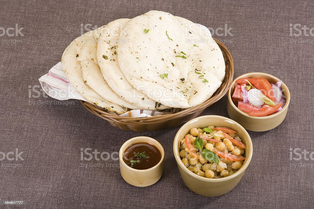 Matra Chaat with Kulcha stock photo