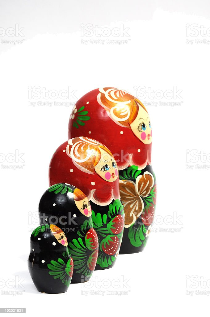 Matreshka line izolated royalty-free stock photo