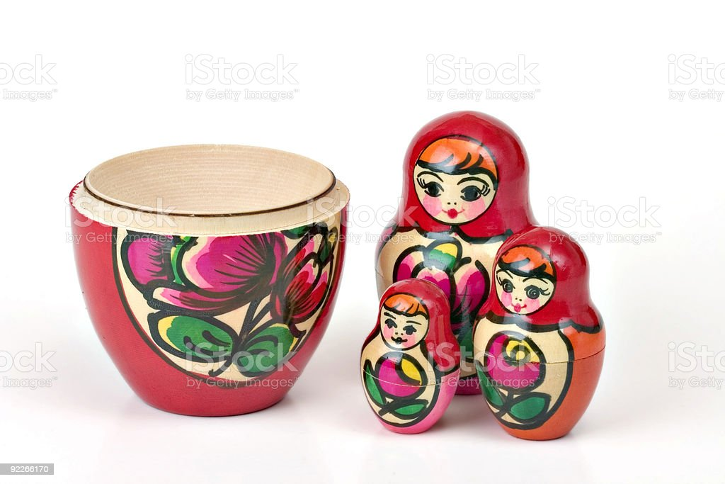 Matreshka royalty-free stock photo