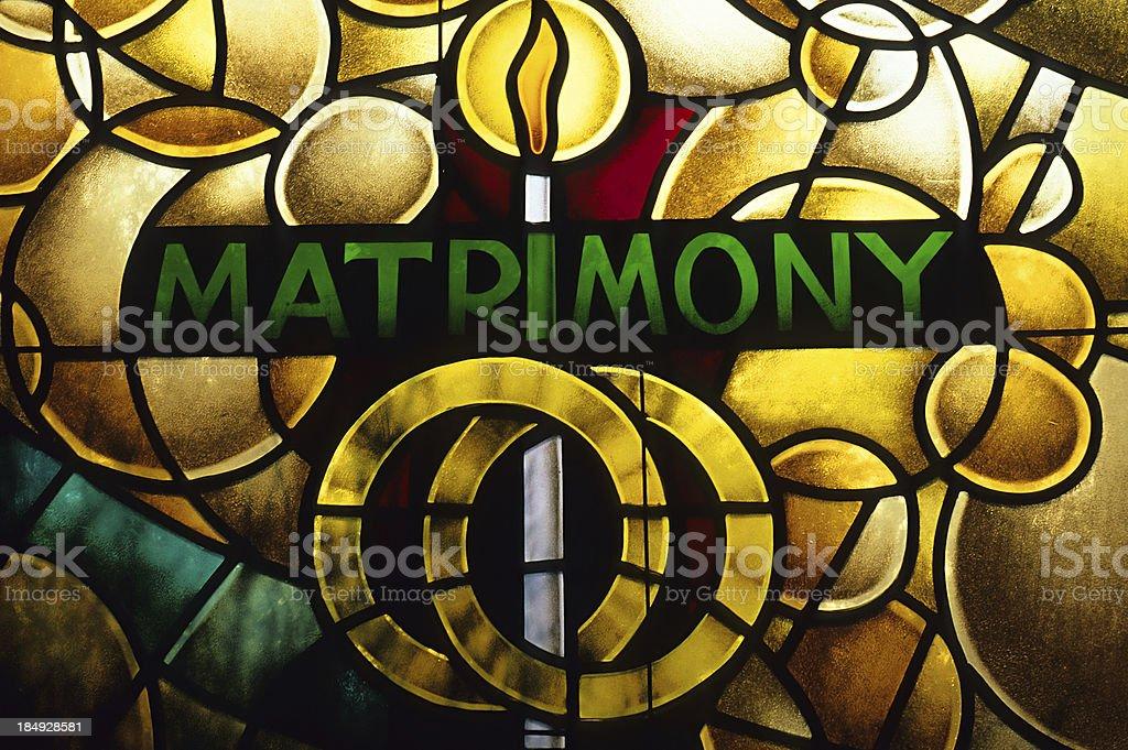 Matrimony royalty-free stock photo