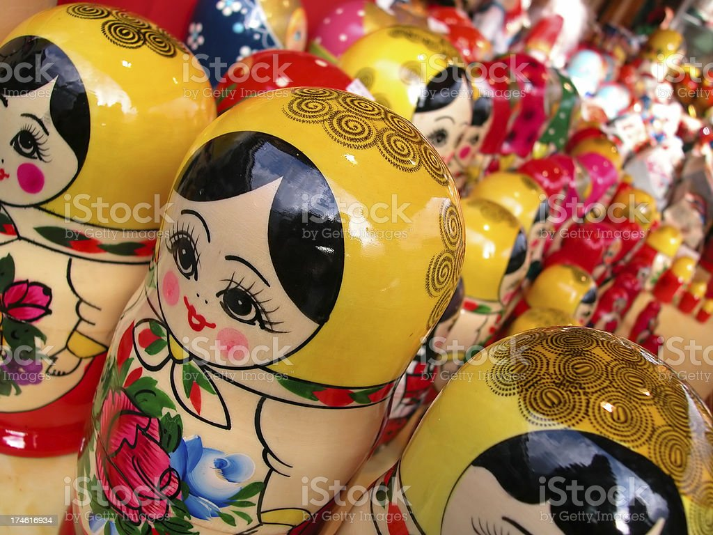Matrioshka  dolls royalty-free stock photo