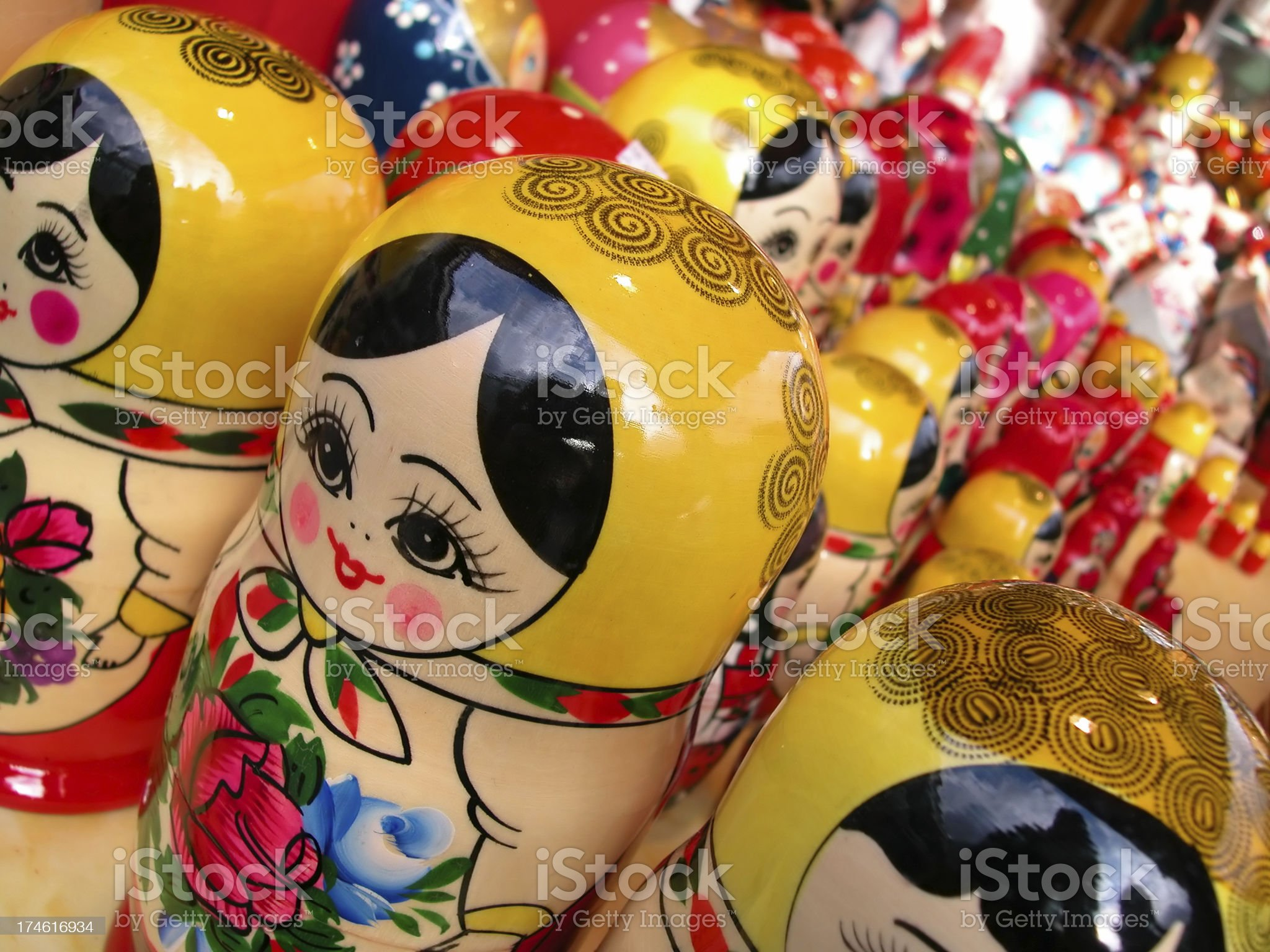 Matrioshka  dolls royalty-free stock photo