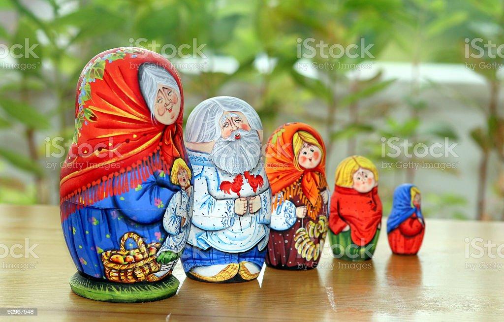 matrioshka family royalty-free stock photo