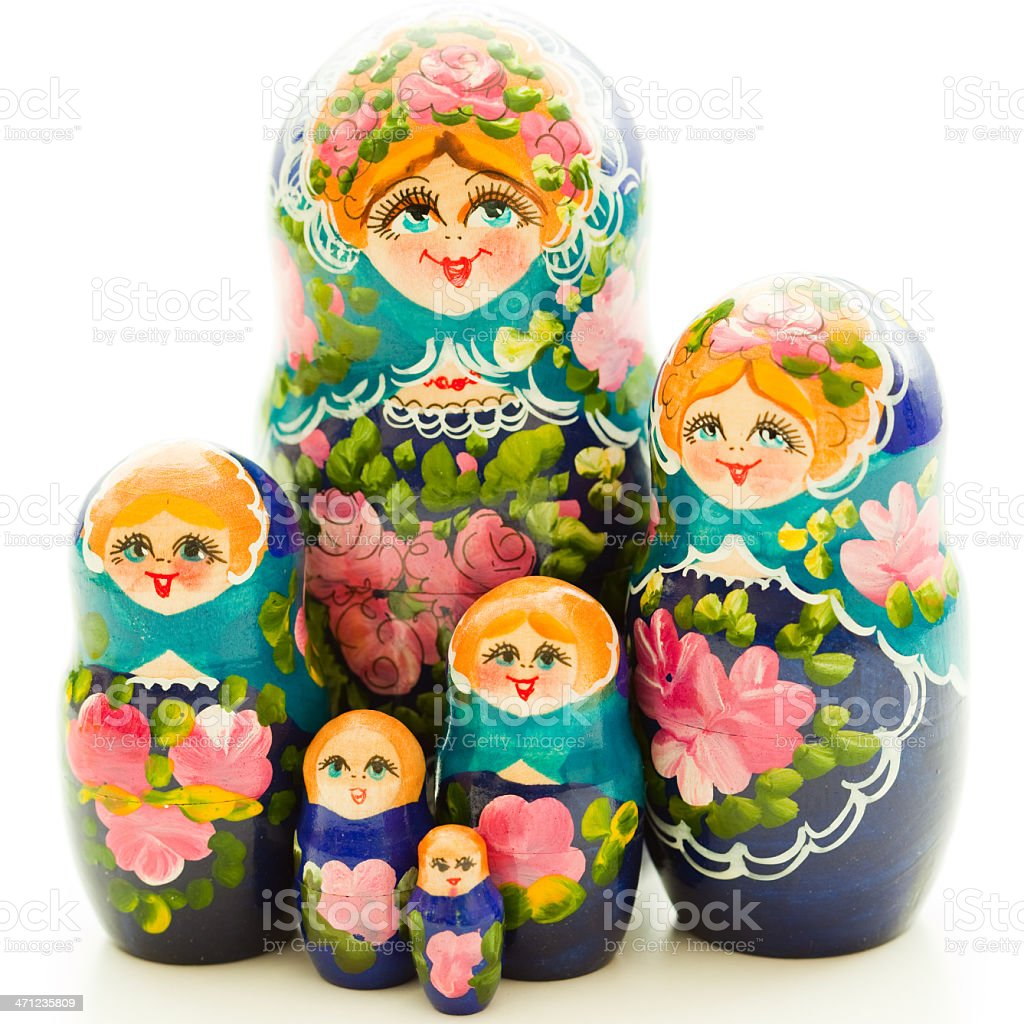 Matrioshka group royalty-free stock photo