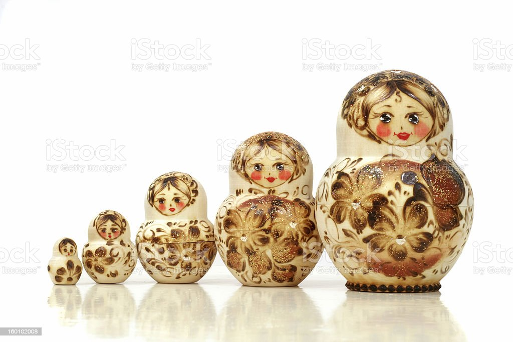 Matrioska - Matryoshka Dolls royalty-free stock photo