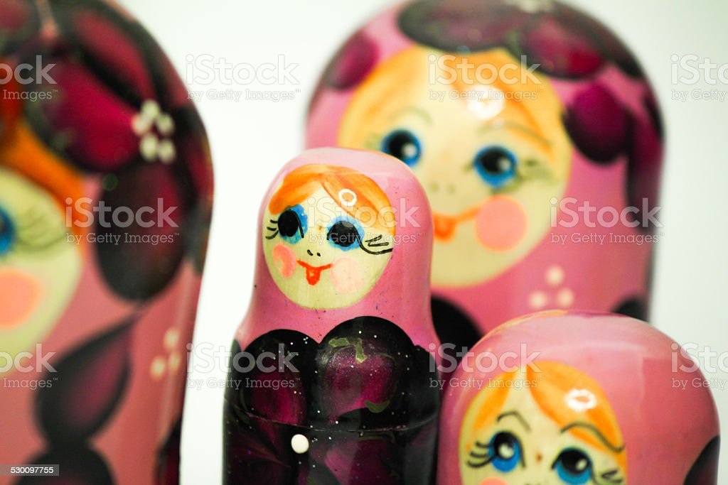 matrioskas doll from russia stock photo