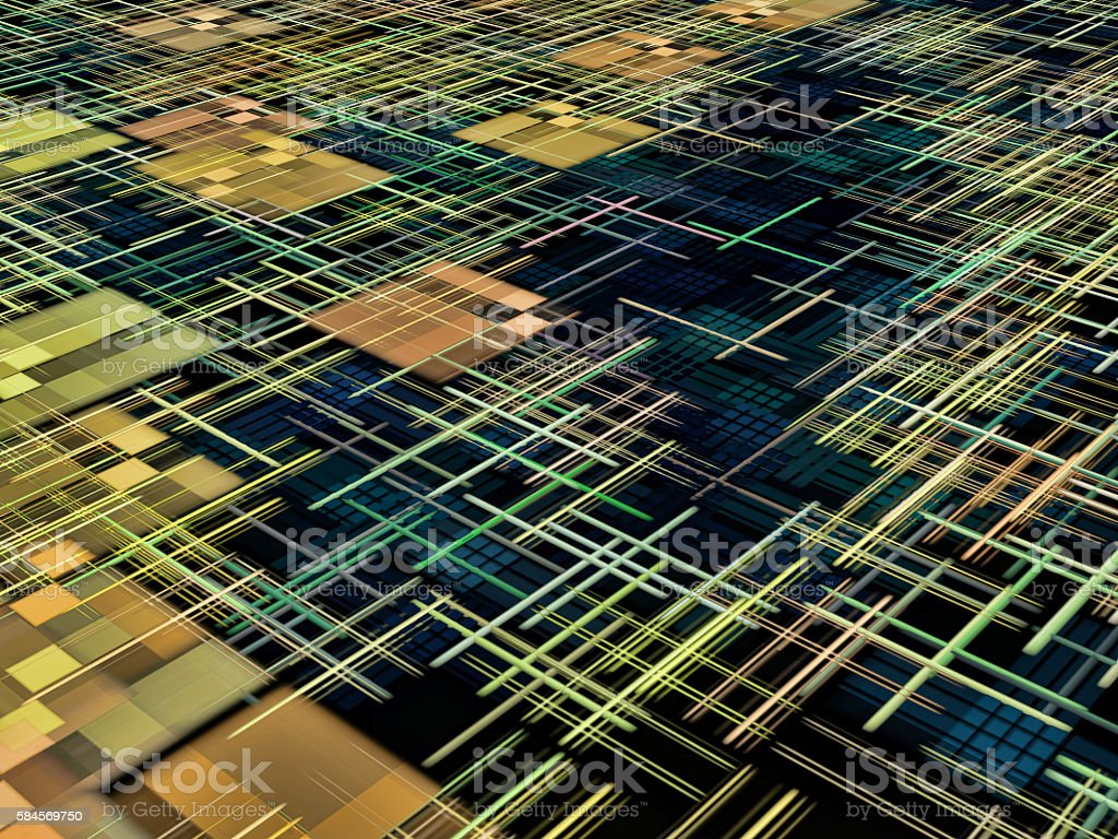 Matrix and square shape pattern as abstract background. stock photo
