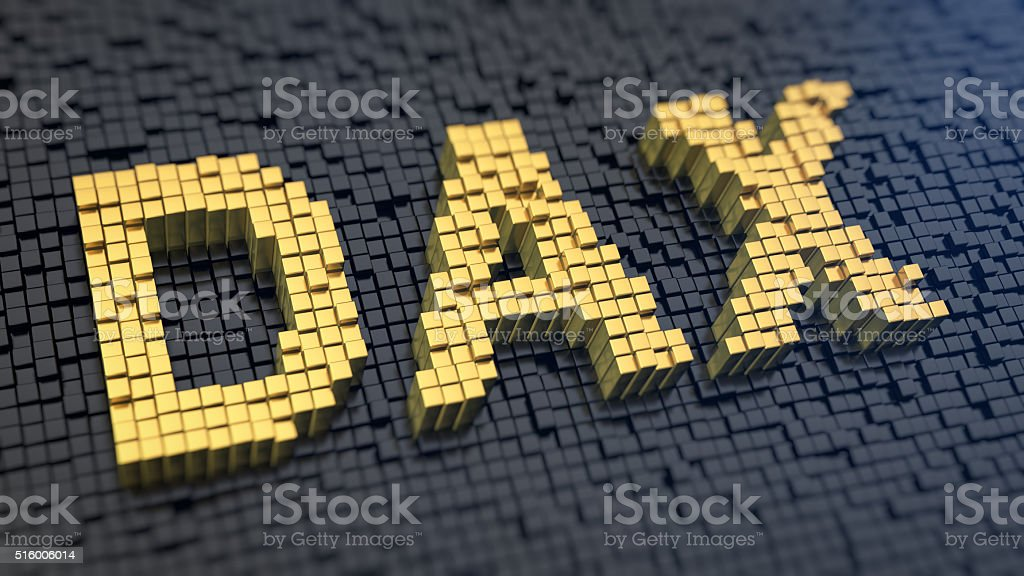 DAX matrix cubics stock photo