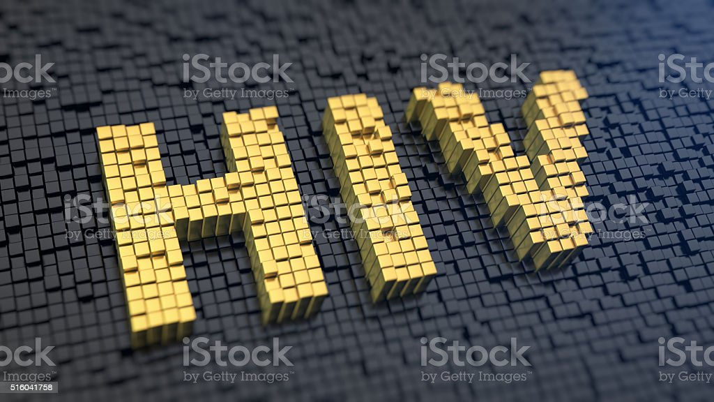 HIV matrix cubics stock photo