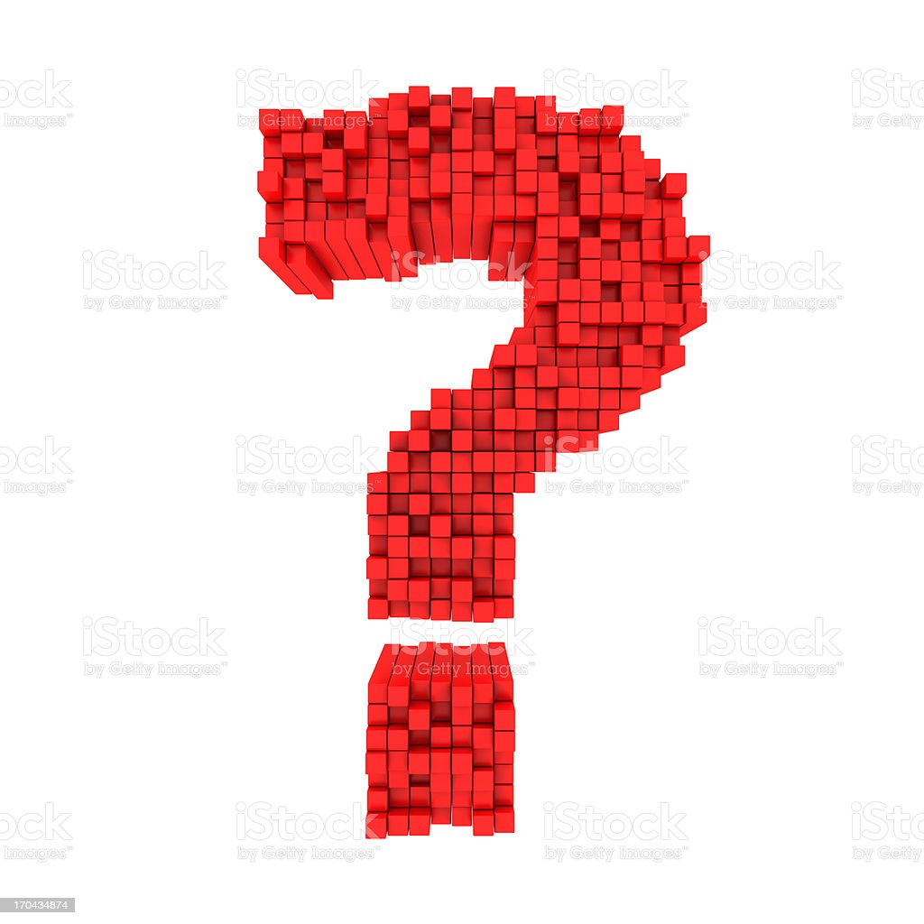 Matrix Question royalty-free stock photo