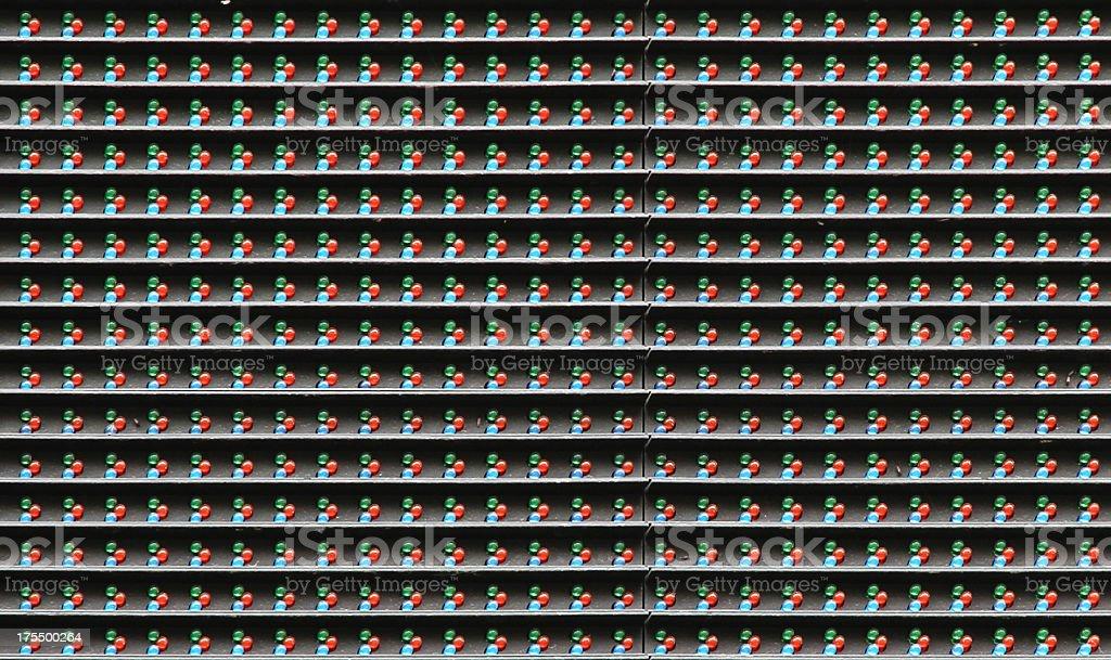 RGB LED matrix sign closeup royalty-free stock photo