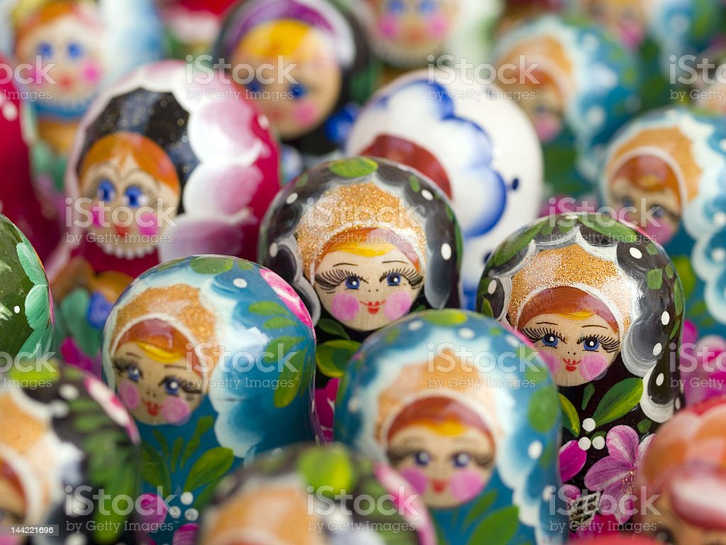 Matroshka Crowd royalty-free stock photo