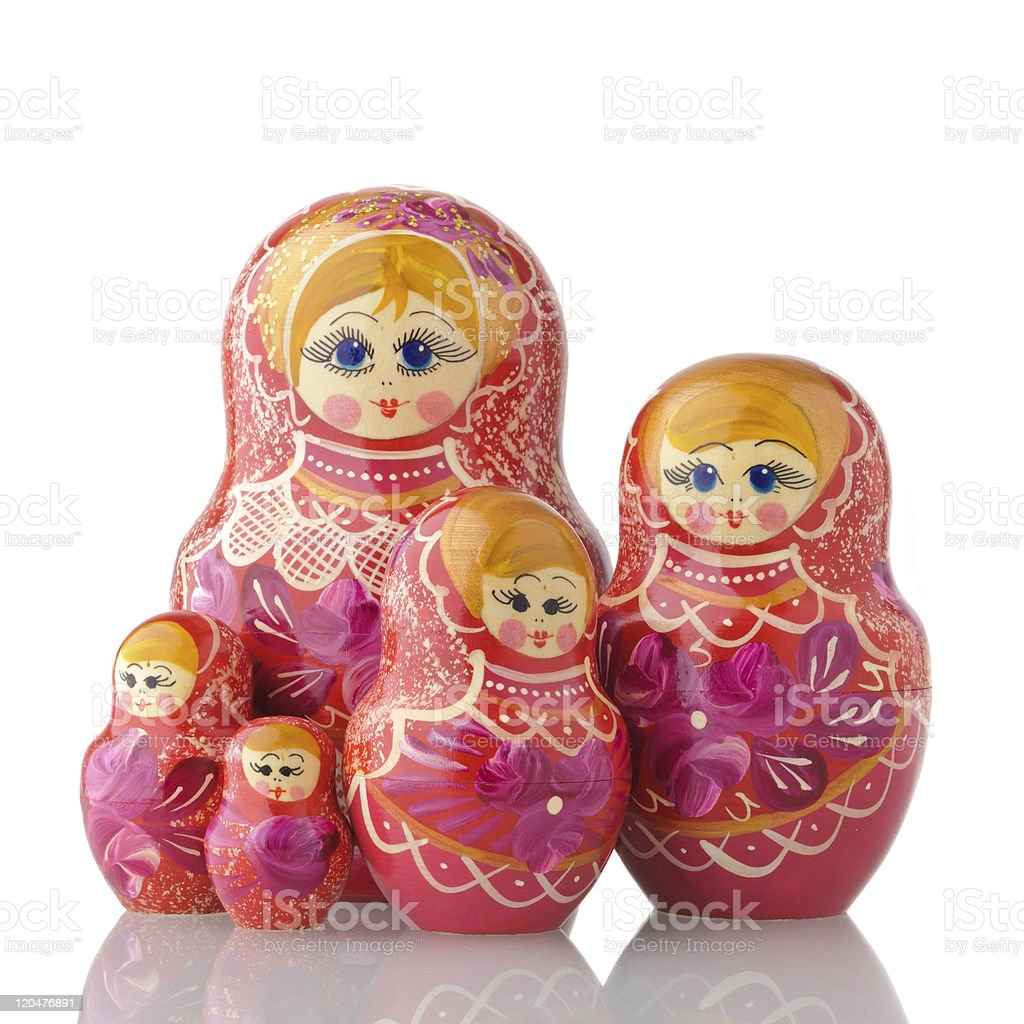 Matryoshka - A Russian Nested Dolls stock photo