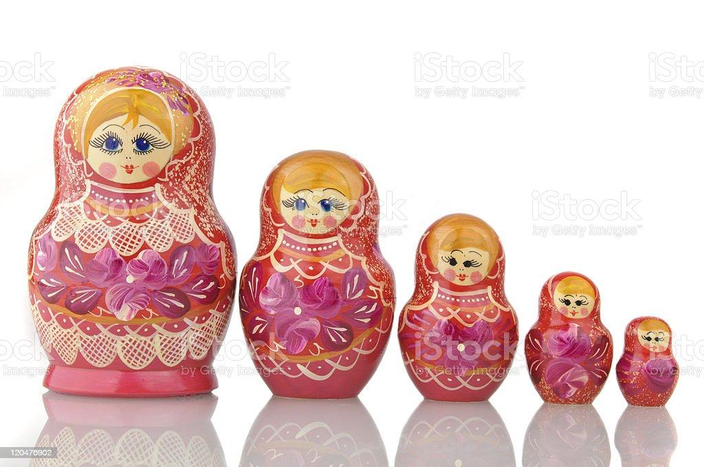 Matryoshka - A Russian Nested Dolls royalty-free stock photo