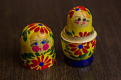 Matryoshka, a Russian wooden doll