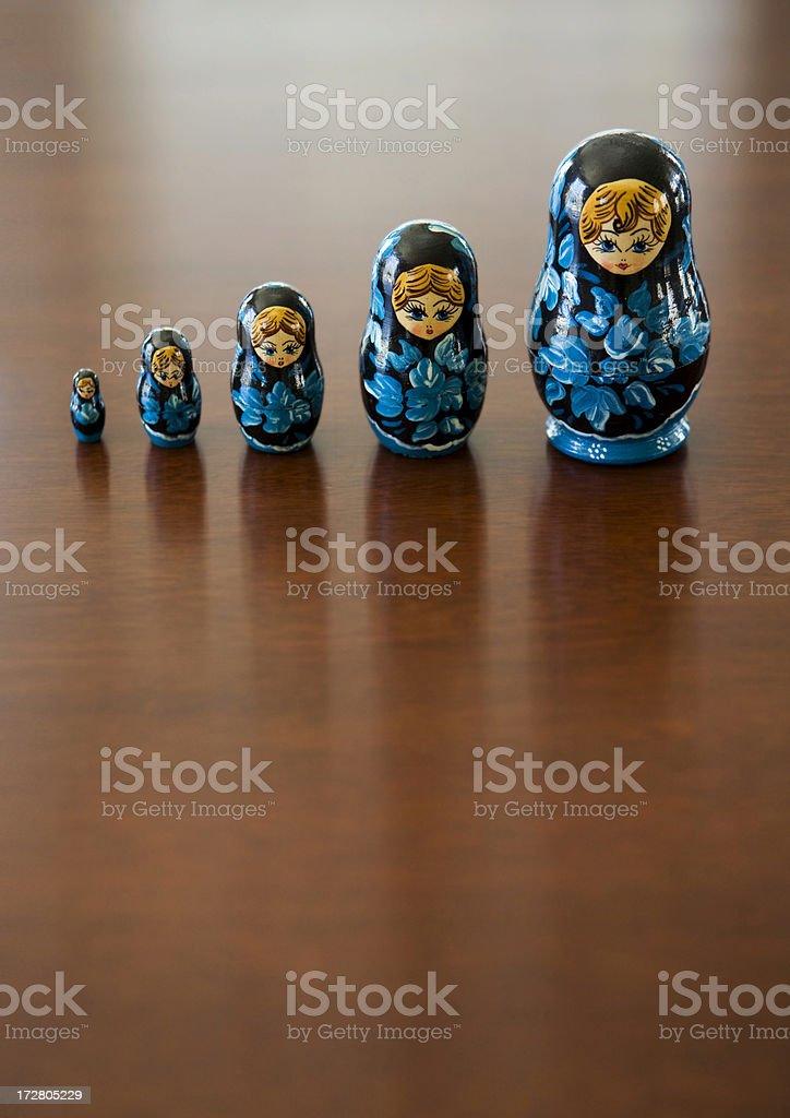Matryoshka doll stock photo