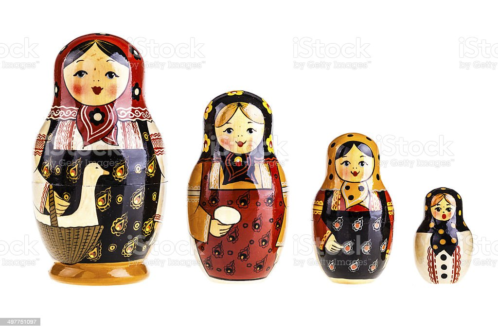 Matryoshka dolls family stock photo