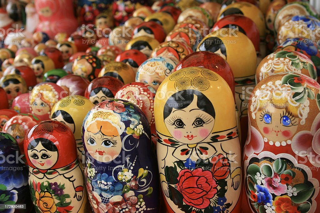 Matryoshka dolls royalty-free stock photo