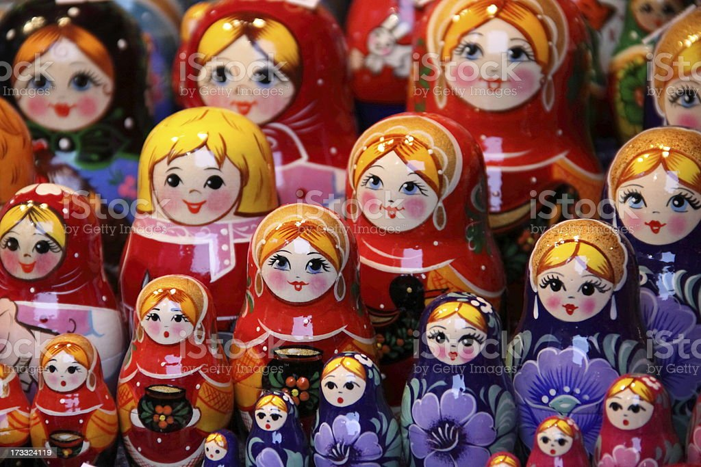 matryoshka family royalty-free stock photo