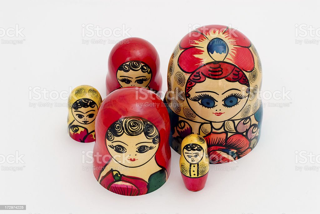 Matryoshka Heads stock photo