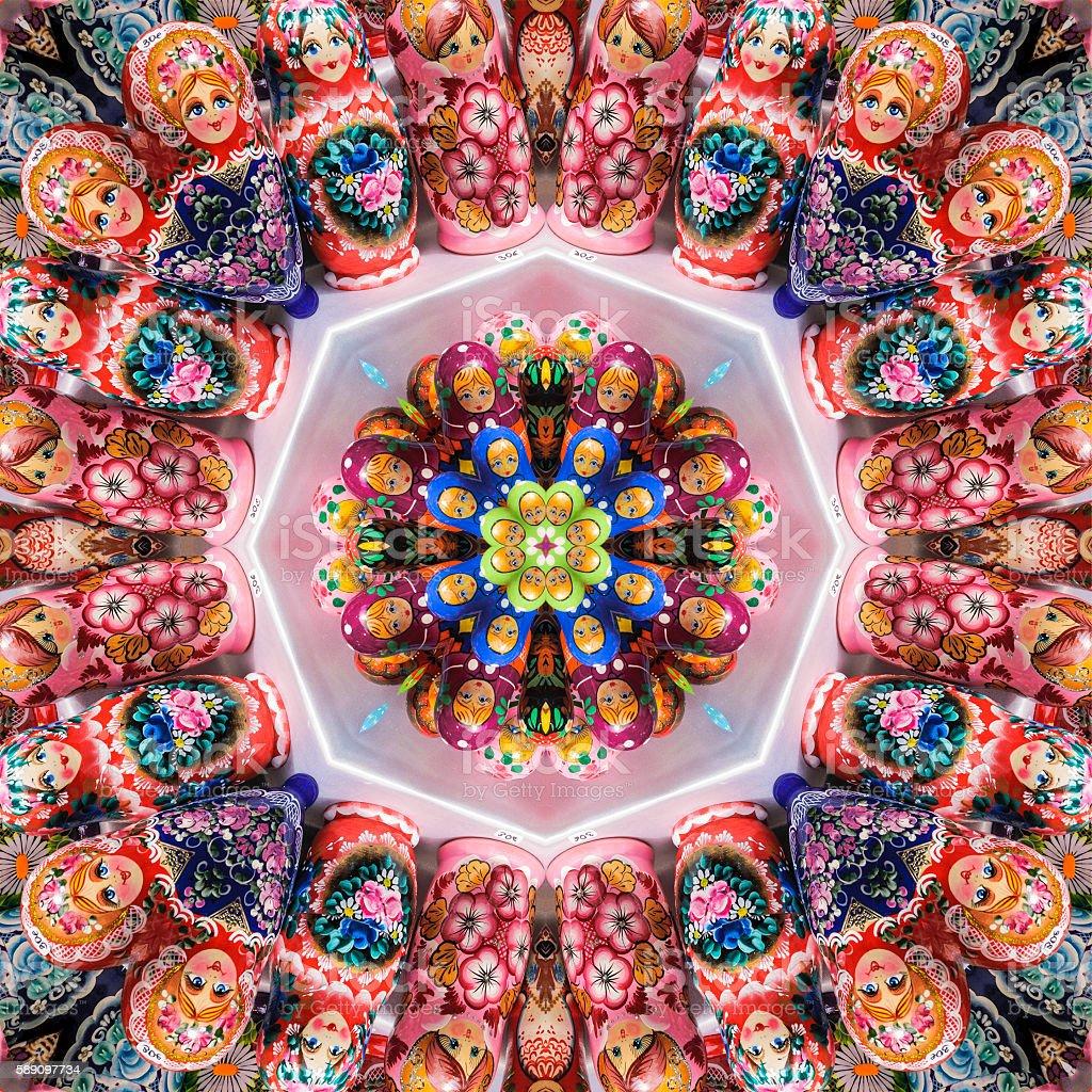 Matryoshka Mandala stock photo