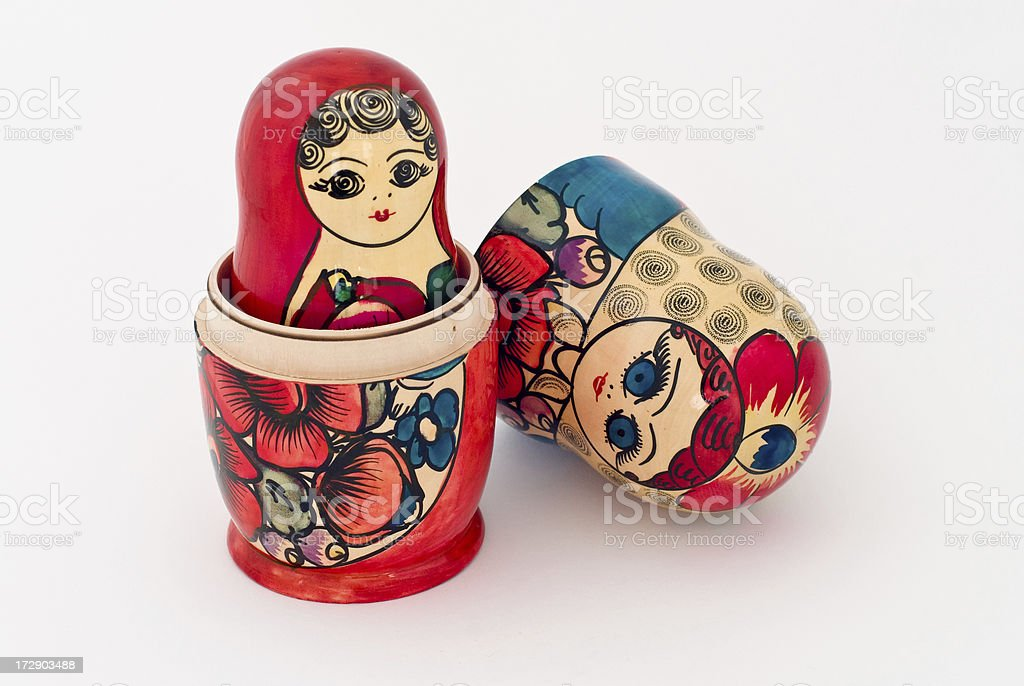 Matryoshka Opened royalty-free stock photo