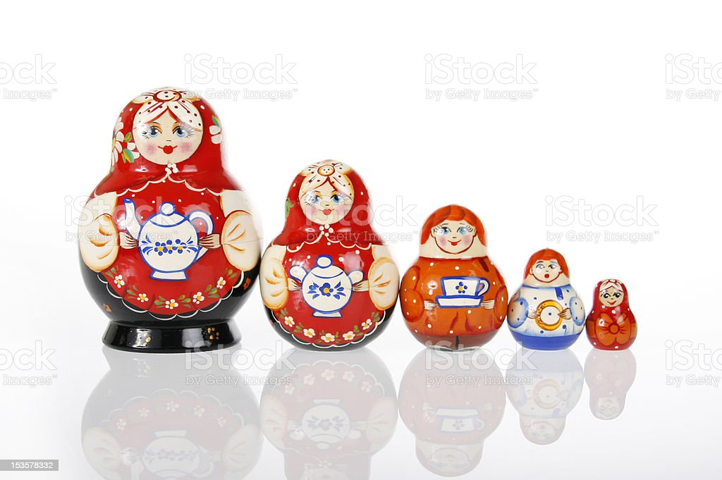 Matryoshka or Russian Nesting Doll royalty-free stock photo