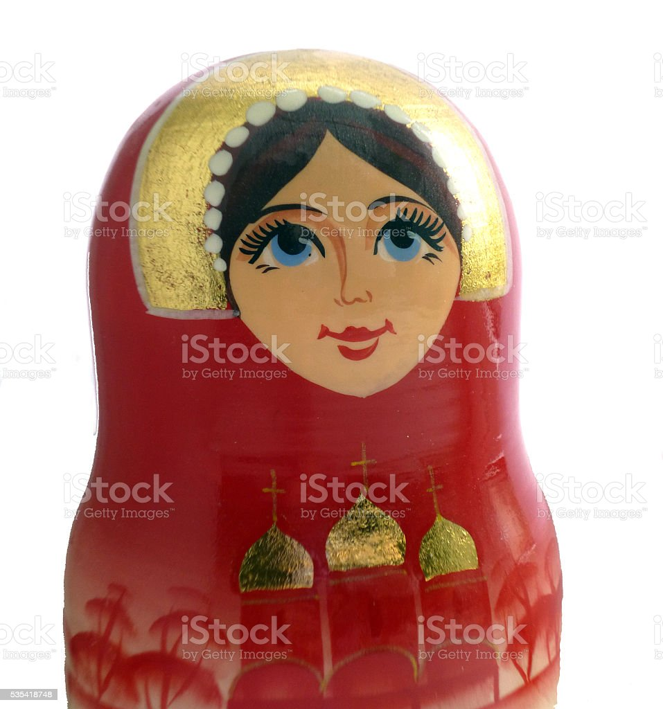 matryoshka russian doll stock photo