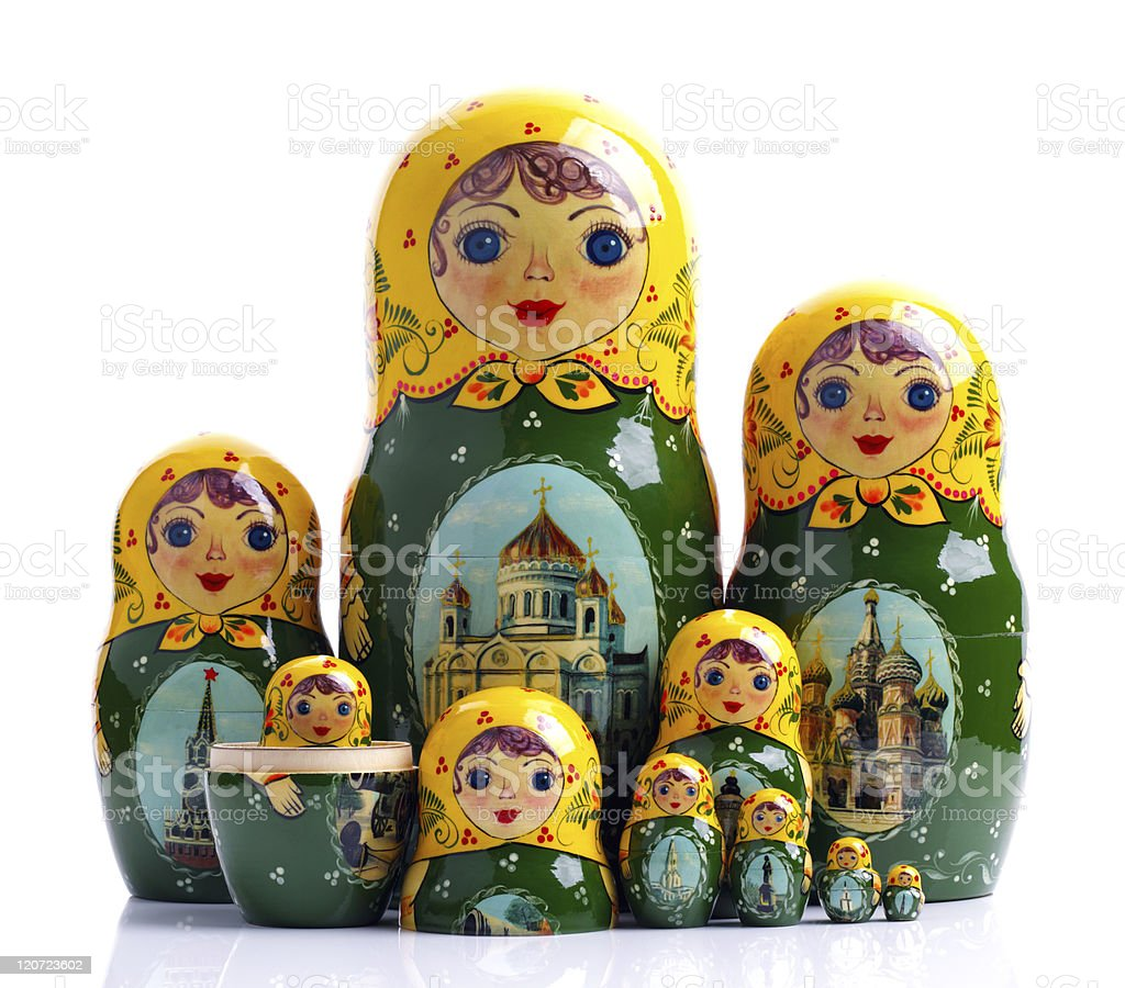 Matryoshka - Russian nested dolls royalty-free stock photo