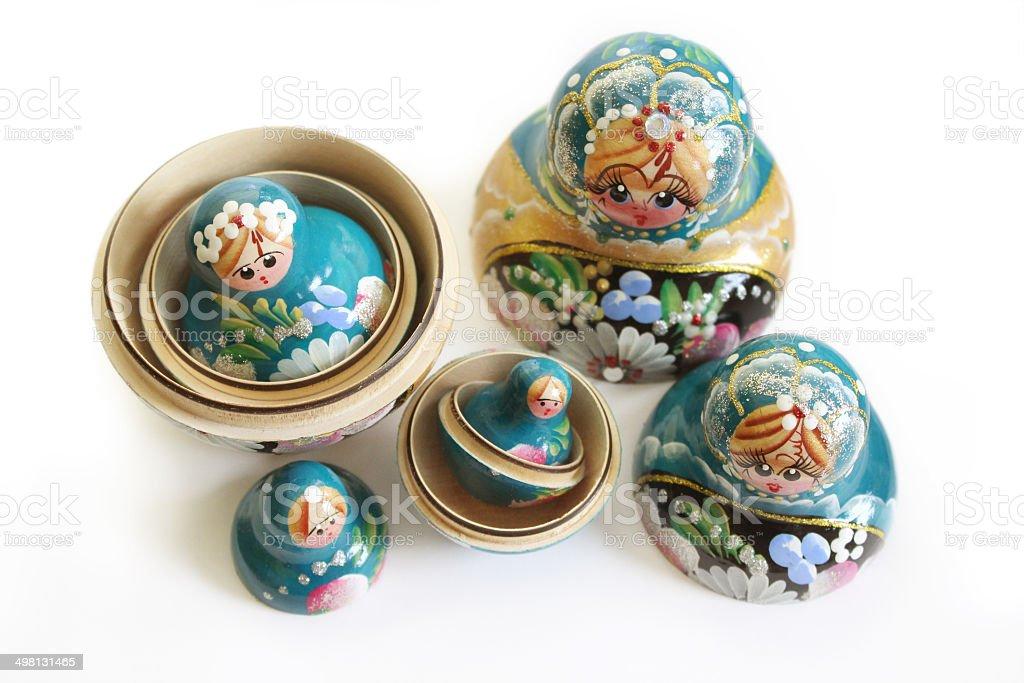 Matryoshka - Russian Nesting Dolls royalty-free stock photo
