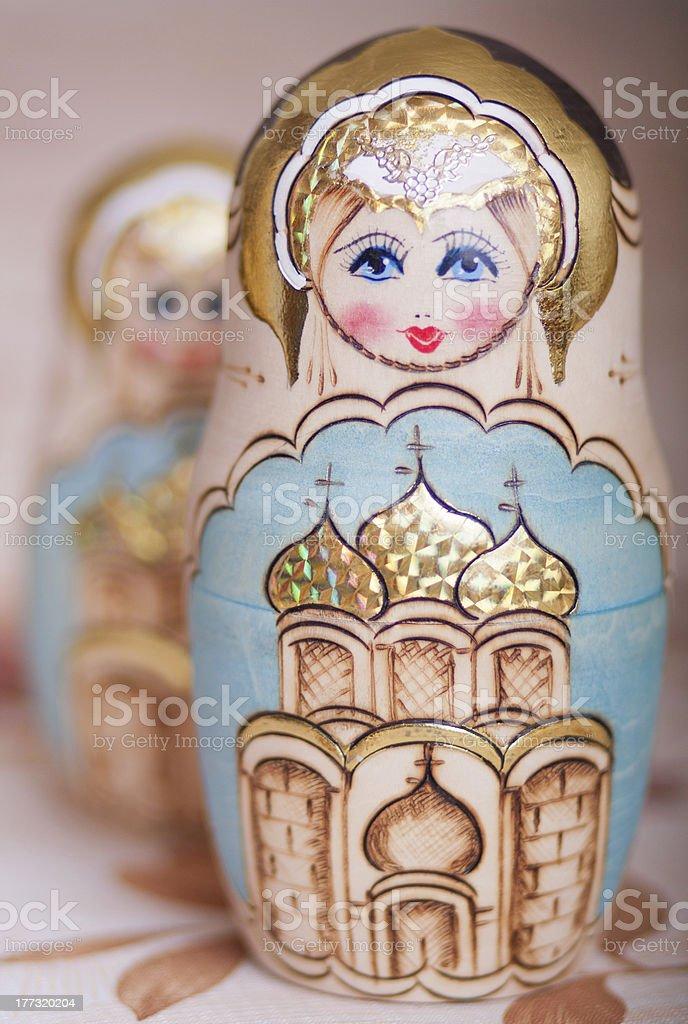 matryoshka russian royalty-free stock photo